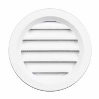 Rama aerisire rotunda, cu plasa, TE-MA, pentru ventilatia incaperilor, alba, D 70 mm
