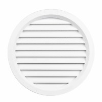 Rama aerisire rotunda, cu plasa, TE-MA, pentru ventilatia incaperilor, alba, D 100 mm