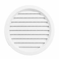 Rama aerisire rotunda, cu plasa, TE-MA, pentru ventilatia incaperilor, alba, D 110 mm