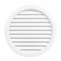 Rama aerisire rotunda, cu plasa, TE-MA, pentru ventilatia incaperilor, alba,  D 120 mm