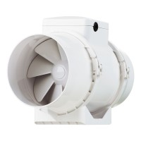 Ventilator plastic pentru tubulatura Vents TT 100, D 100 mm, 21/33 W, 2180/2385 RPM, 145/187 mc/h