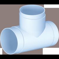 Conector tip T, pentru tub ventilatie, Vents, 131P, D 100 mm