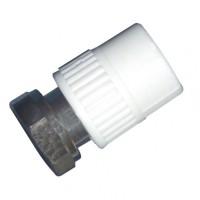 "Racord semiolandez PPR, FI, 20 mm x 3/4"", alb"