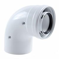Cot coaxial condensatie 3318075, pentru centrale termice, D 60/100 mm, 90 grade