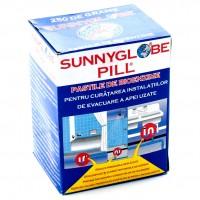 Pastile bioenzime pentru curatarea instalatiilor de evacuare a apei uzate, Sunnyglobe Pill, 250 grame / cutie