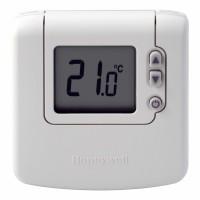 Termostat de ambient pentru centrala, cu fir, Honeywell DT90A, neprogramabil, digital, 2 x AA, 230 V
