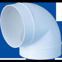 Cot pentru tub ventilatie, Vents, 90 grade, PVC, D 125 mm