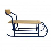 Sanie pentru copii 1108, cu spatar detasabil, metal + lemn, 80 x 24 x 29,5 cm