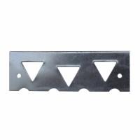Coltar placa frontala, UNI+RS, 120 x 40 mm