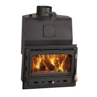 Semineu pe lemne, brichete, carbune Prity AC W20, 20 kW, boiler incorporat