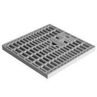 Gratar camin monolitic cu maner, A15, polipropilena, gri, 200 x 200 mm