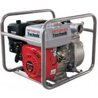 Motopompa de apa curata, pe benzina fara plumb, cu motor termic, Technik MPT28-60, 5.6 kw, 6.5 CP, 1000 l / min