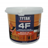 Impregnant ignifug pentru lemn, Tytan Professional 4F, transparent / rosu, 5 kg