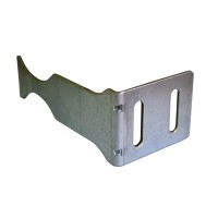 Consola unghi pentru calorifere din aluminiu, 97 x 50 x 40 mm, gri metal
