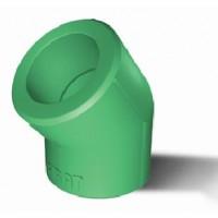 Cot PPR, 40 x 40 mm, verde, 45 grade