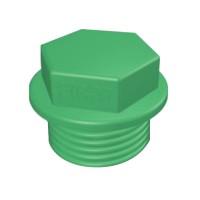 Dop PPR, filetat, D 25 mm, verde