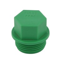 Dop PPR, filetat, D 25 mm, verde