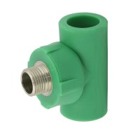 """Teu PPR, D, FE, 20 mm x 1/2"""", verde"""