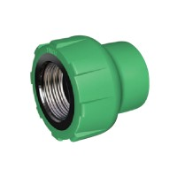 "Racord PPR, FI, 20 mm x 1/2"", verde"