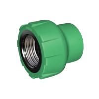 "Racord PPR, FI, 20 mm x 3/4"", verde"