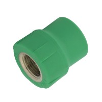 "Racord PPR, FI, 20 mm x 3/4"", verde"