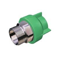 "Racord PPR, FE, 32 mm x 1"", verde"