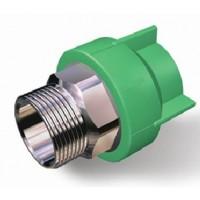 Racord PPR, FE, 40 mm x 1 1/4 inch, verde