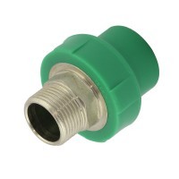"Racord PPR, FE, 40 mm x 1 1/4"", verde"