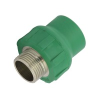 "Racord PPR, FE, 20 mm x 1/2"", verde"