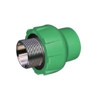 "Racord PPR, FE, 20 mm x 3/4"", verde"