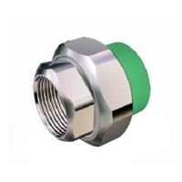 "Racord olandez PPR, FI, 40 mm x 1 1/4"", verde"