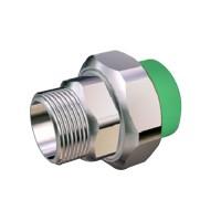 "Racord olandez PPR, FE, 25 mm x 3/4"", verde"
