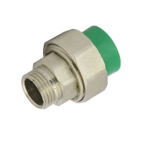 "Racord olandez PPR, FE, 32 mm x 1"", verde"