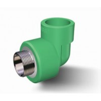 Cot PPR, FE, 40 mm x 1 1/4 inch, verde, 90 grade