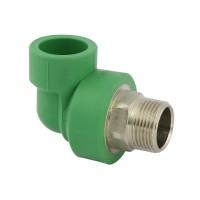 """Cot PPR, FE, 25 mm x 3/4"""", verde, 90 grade"""