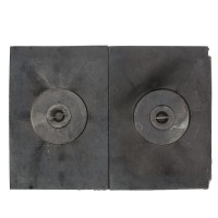 Plita fara rama, fonta + fier, 2 piese, 390 x 540 mm