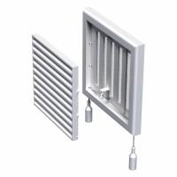 Grila cu reglaj manual, pentru ventilatie, Vents MV 100RS, 154 x 154 mm