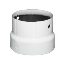 Reductie evacuare fum, tabla emailata, FI, 130 - 120 mm, alb lucios