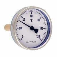 """Termometru axial BiTh 100, D 100 mm, 1/2"""", 0 - 6 bar, 0 - 120 grade C, 63813"""