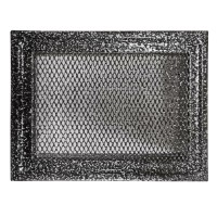 Grila semineu MK10SR, metal, gri, 260 x 110 mm