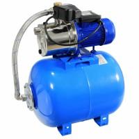 Hidrofor Wasserkonig HWX4200/50 Plus, cu pompa autoamorsanta din inox + vas 50 L + presostat + manometru + furtun flexibil + racord 5 cai, 1300 W