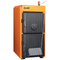 Cazan termic pe lemne, carbune Ferroli SLK Pro 5, cu ardere normala, din fonta, 27/34 kW, 5 elementi