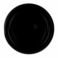 Rozeta cu capac, tabla emailata, FI, D 120 mm, neagra