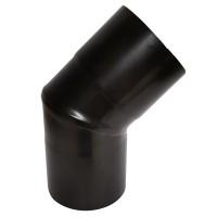 Cot inox neizolat, negru, 45 grade, D 80 mm