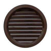 Rama aerisire rotunda, cu plasa, TE-MA, pentru ventilatia incaperilor, maro, D 110 mm