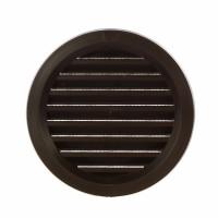 Rama aerisire rotunda, cu plasa, TE-MA, pentru ventilatia incaperilor, maro, D 120 mm