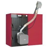Cazan termic cu arzator pe peleti Ferroli Sunpellet 5, din fonta, 36 kW