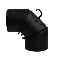 Cot reglabil cu clapeta, otel, negru, 90 grade, 120 mm