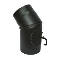 Cot reglabil cu clapeta, otel, negru, 45 grade, 200 mm