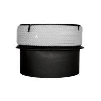 Adaptor cos ceramic, otel, negru, 200 - 200 mm